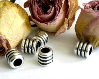 European beads Indian godronnées Tibetan silver