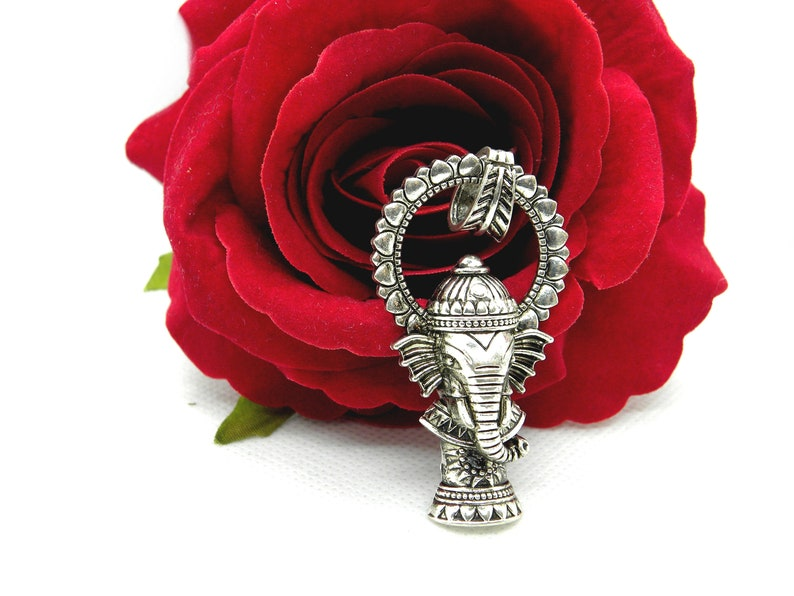 elephant hippie pendant elephant elephant Pendant stylized elephant pendant hippie boho elephant ganesh silver large pendant