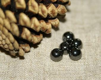 set of Hematite stone beads real diameter: 10 mm