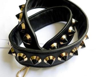 Strap bag faux leather handle
