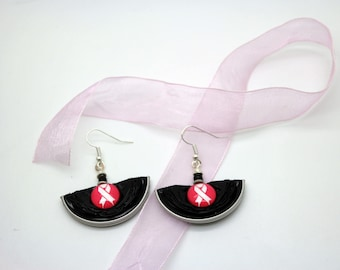 Pink Ribbon earrings - Breast Cancer