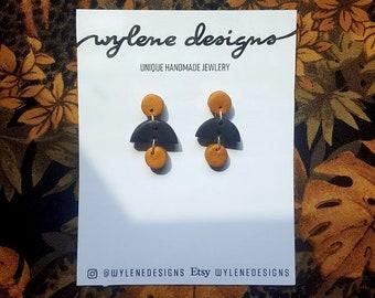 Polymer Clay Short Dangle Earrings