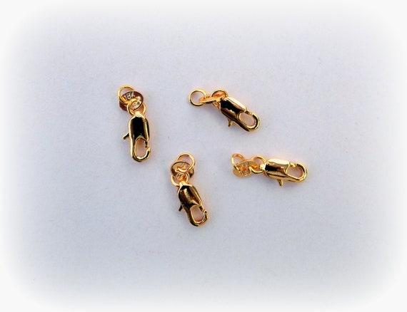 LOT DE 20 grands FERMOIRS MOUSQUETON 16 x 8mm ARGENTES lobster clasps perles