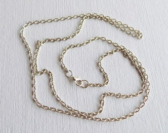 Silver chain 81 cm, chain of 3.5 x 5 mm - mixed and XXL.