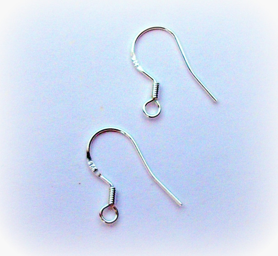 ARGENT STERLING 925 Wire Boucles d/'oreilles Hameçons 10 paires 20 pièces REAL SILVER