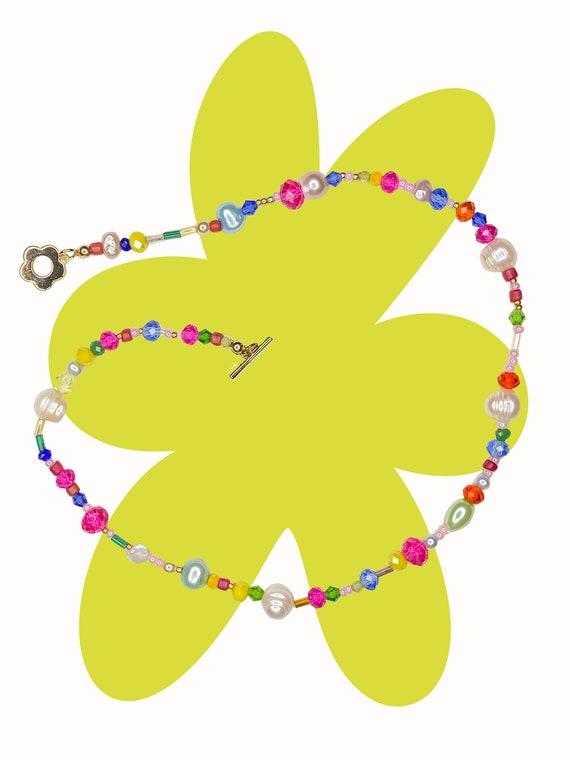 Arco Iris Flower Clasp Necklace!!