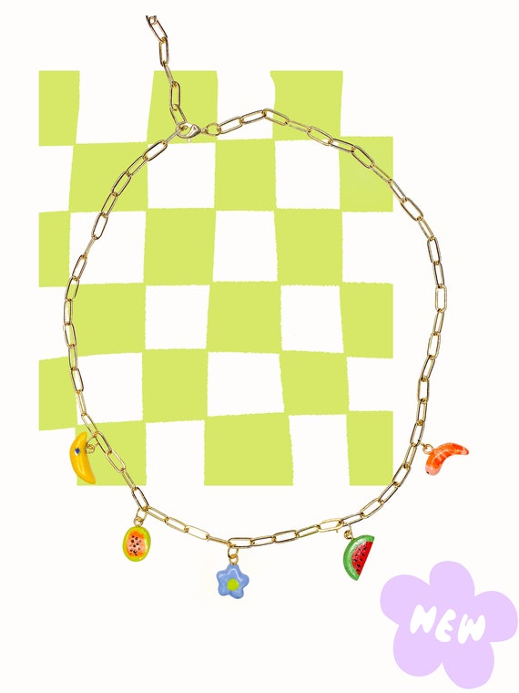 Happy Things Charm Necklace: 5 Charms