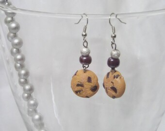 Earrings gourmet cookies and beads