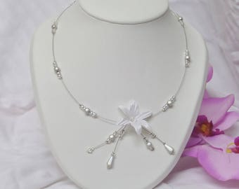 """Necklace, wedding, ceremony or party, Pearl, model """"Emilie"""""""