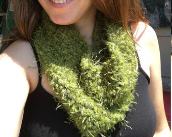 Mossy green cowl