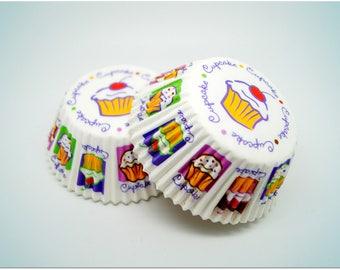 100 mini cupcakes liners WILTON cupcake shape 2