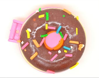 Mega mirror charm: chocolate donut + nuggets