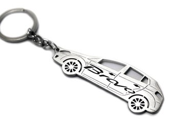 fiat ring etsy Fiat 124 Restomod keychain with ring made from stainless steel perfect gift for car owner fan car tuning accessories fit fiat bravo ii