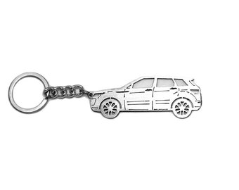 Keychain with ring made from stainless steel Keyfob Rey Ring for Range Rover  Evoque 5d 2011- 48727e99e