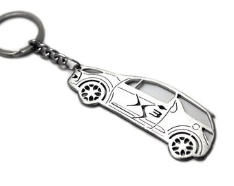 Yellow Citroen Cactus Keychain Metal Enamel car accessorie Key fob Keyring