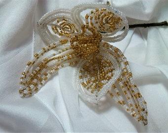 Wedding flower, flower beads, flower party Fleur VINTAGE, wedding gift idea, handmade gift, Pearl unique everlasting flower, gift
