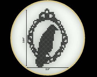 The Raven PDF Cross Stitch Pattern- Instant Download