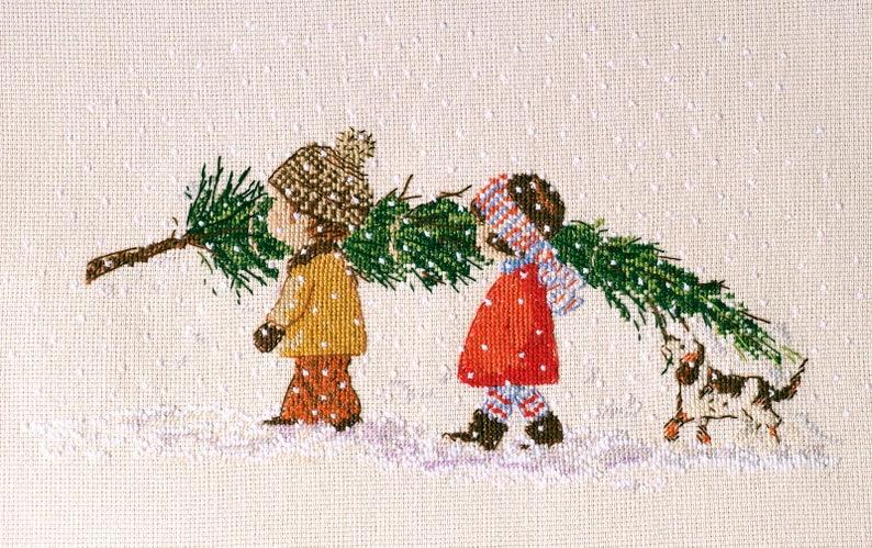 Christmas tree cross stitch pattern Christmas pdf pattern image 0