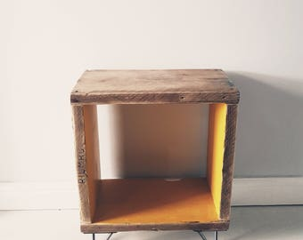 Rustic Industrial Reclaimed Scaffold Wood Hairpin Legs Bedside Coffee Side Table