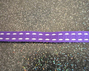 Double Ribbon 6 mm purple polyester bites on 2 sides