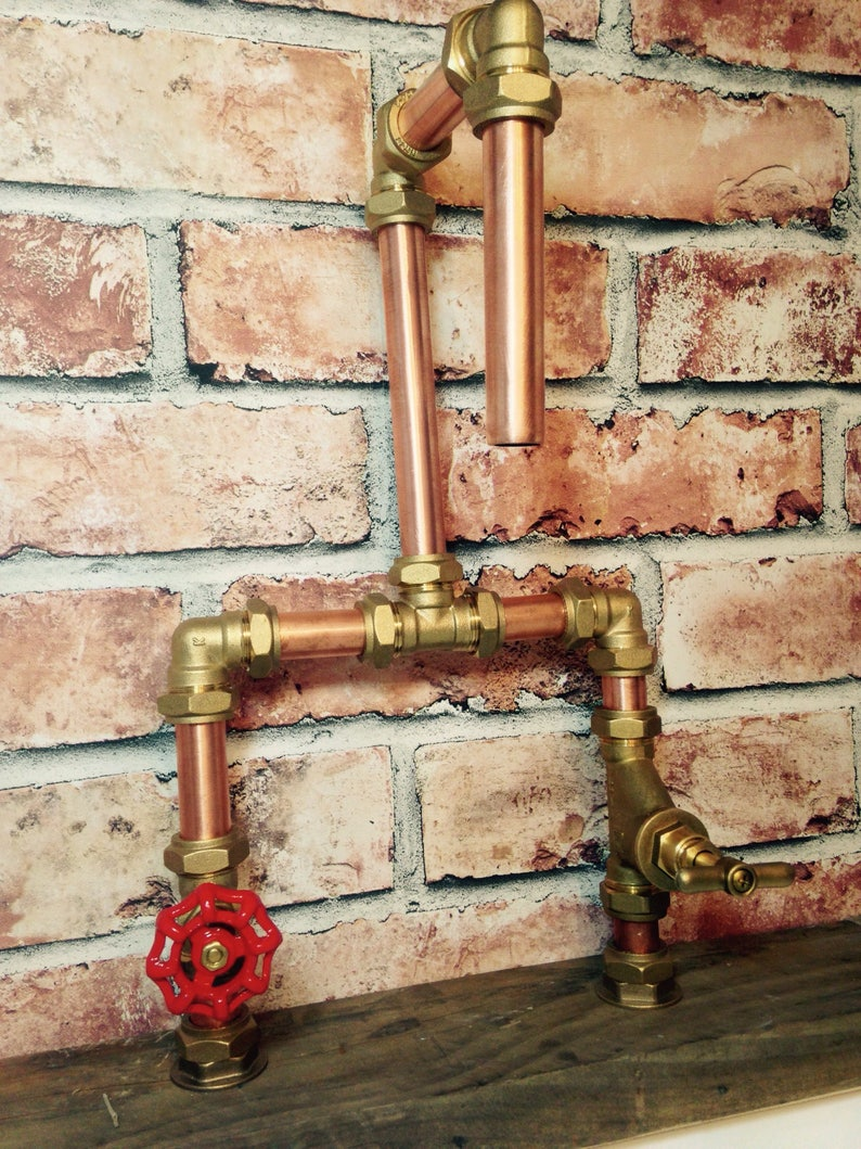 dc1c1e3070c80 Handmade 22mm Copper Tap Red Gate Valve @ Stopcock with Compression Joints  + Free Shipping