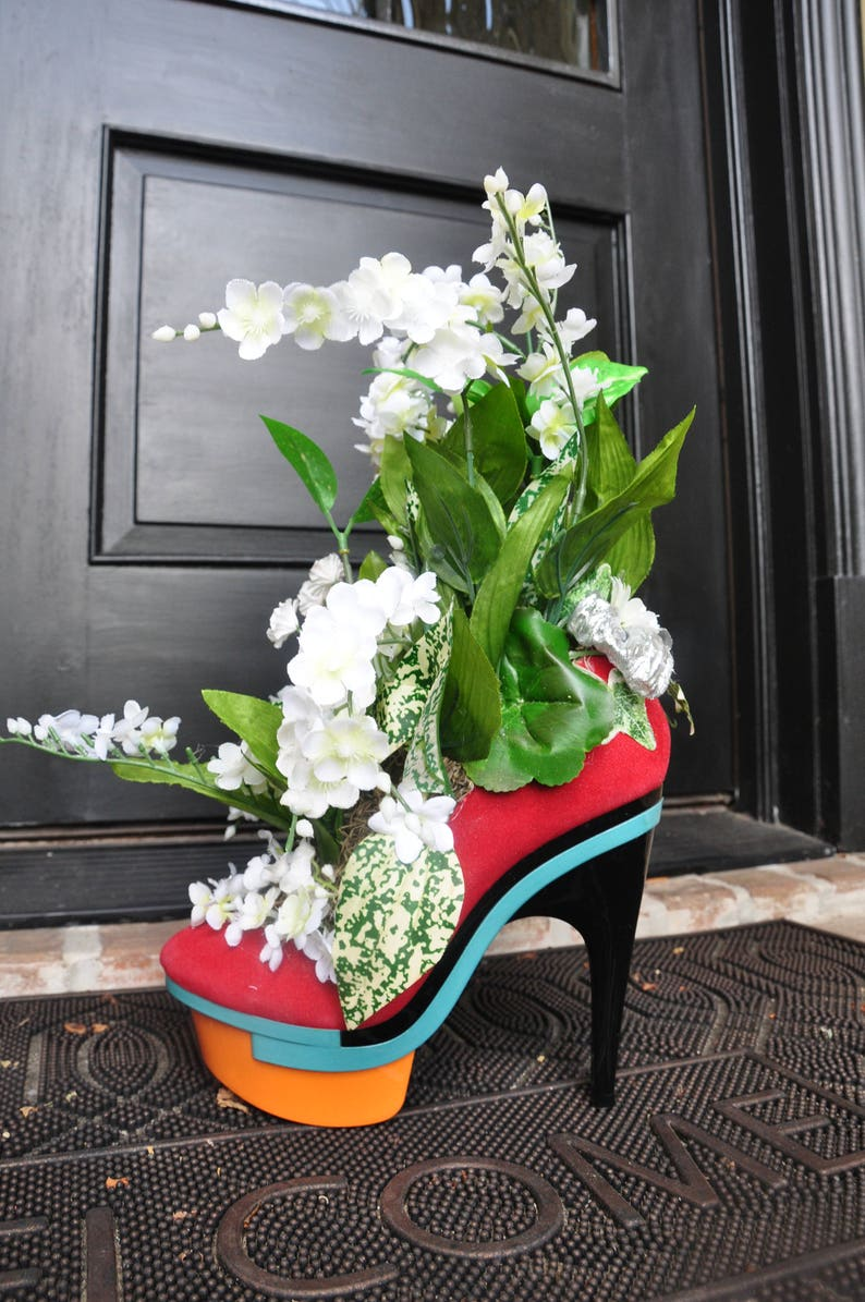 Arreglo De Flores Zapatos De Plataforma