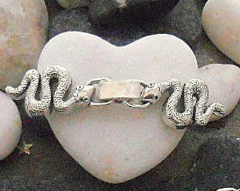 1 clasp shows model snake silver 55x13x4.5 mm