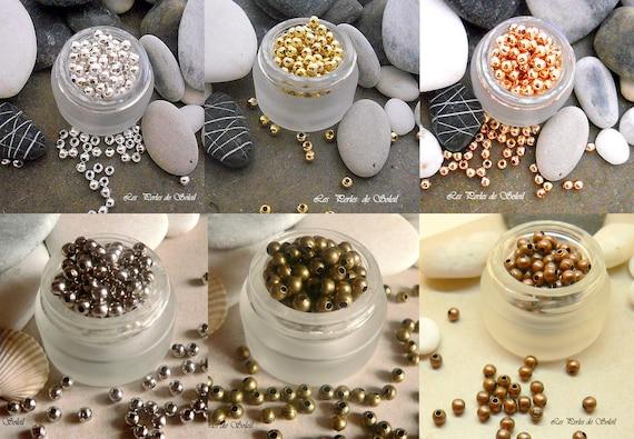 50 pearls infill silver brass 4mm