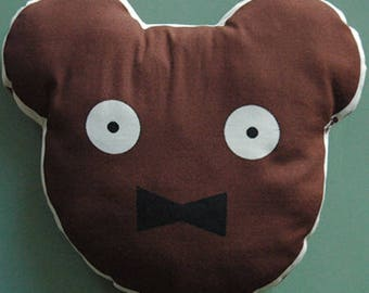 Mini pillow bear moustache Emile
