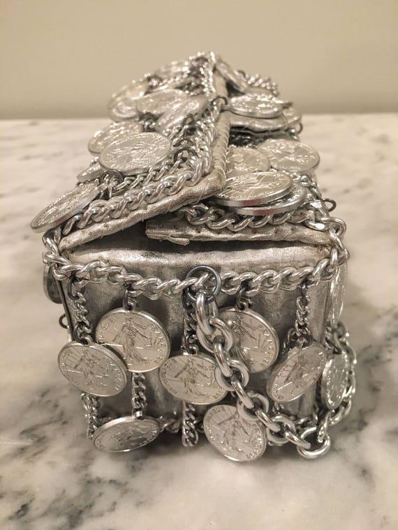 Walborg I. Magnin Silver Coin/Chain Handbag - image 5