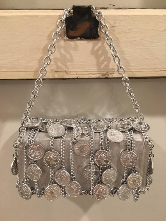 Walborg I. Magnin Silver Coin/Chain Handbag - image 2