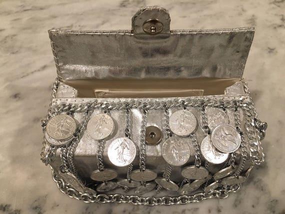 Walborg I. Magnin Silver Coin/Chain Handbag - image 7