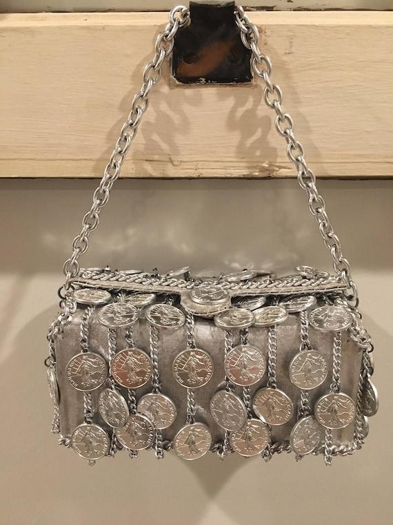 Walborg I. Magnin Silver Coin/Chain Handbag - image 1