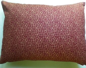 Decorative Throw Pillow Removable Cover Florets Red William Morris Fabric, Zipper Closure, 12x16, 16x16, 18x18, 20x20