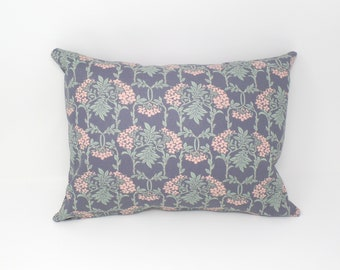 Decorative Throw Pillow Cover Made with Liberty of London Fabric, Nouveau Mayflower, Zipper Closure, 12x16, 16x16, 18x18, 20x20
