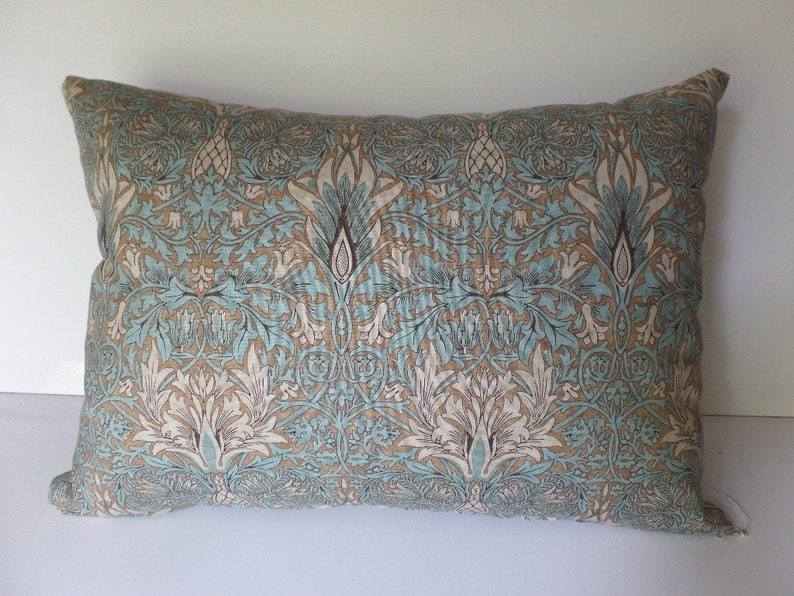 Decorative Throw Pillow Removable Cover Snakeshead Aqua Blue Etsy