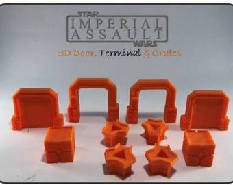 Star Wars Imperial Assault 3D Door, Terminal, & Crates