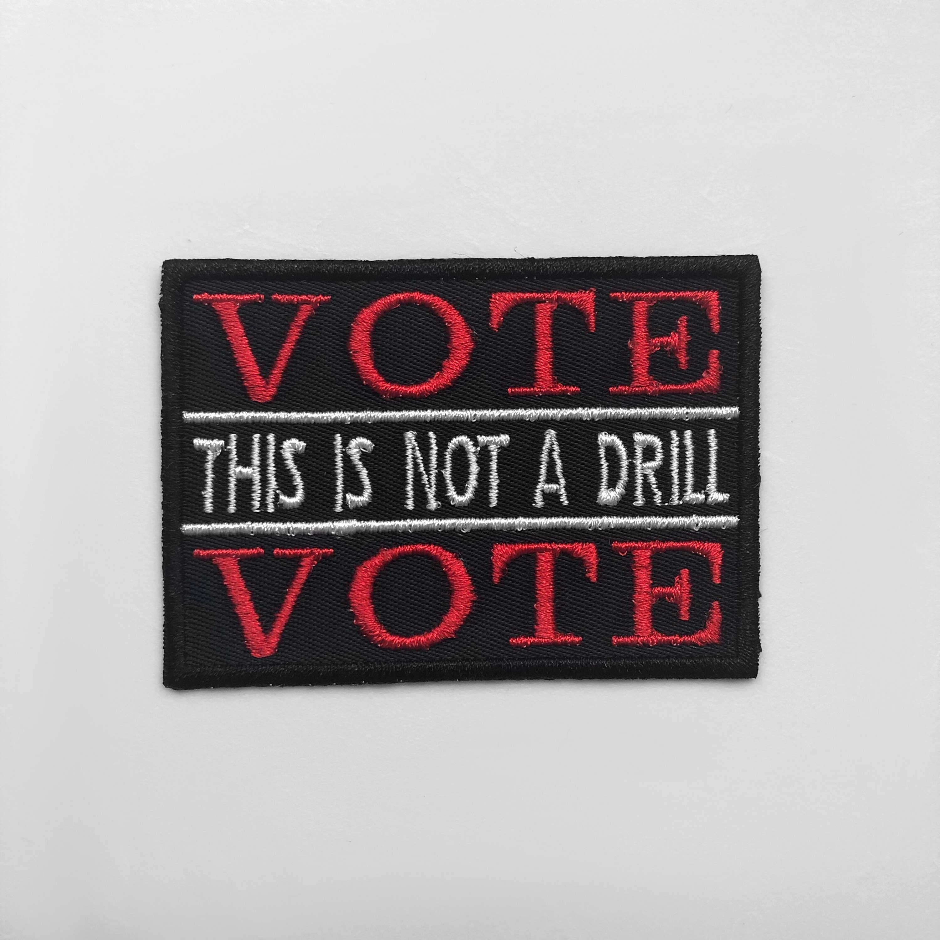 """Your Vote Matters Embroidered Iron-On Patch 2.7/"""" x 1.8/"""" Hook /& Loop Election"""