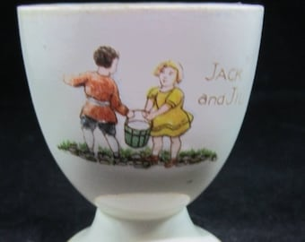 Vintage Jack and jill egg cup