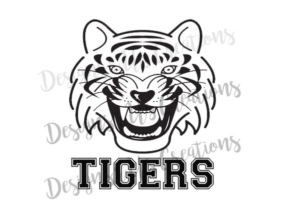 football PNG Instant Download Retro Vintage Tigers PNG Sublimation