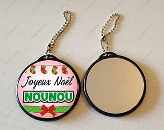 Keychain mirror Merry Christmas nanny