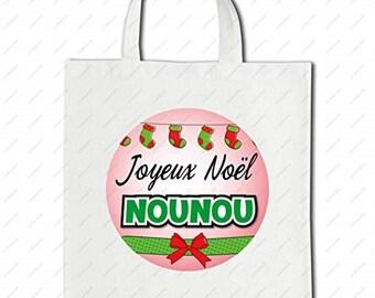 Happy Shopping Bag Christmas nanny