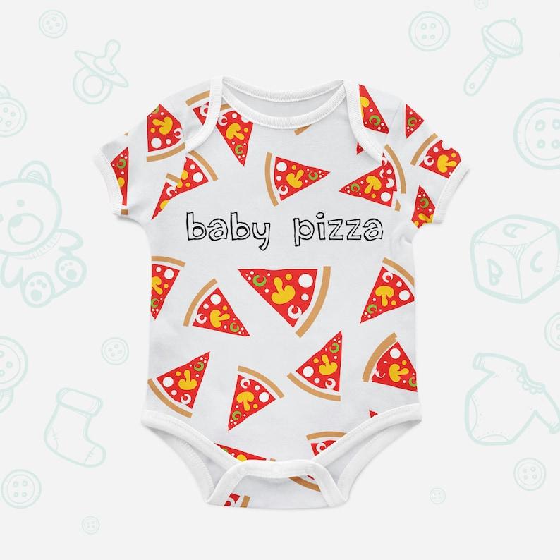 13e3beec0 Baby Pizza Onesie Baby Shower Gift Food Bodysuit Organic   Etsy