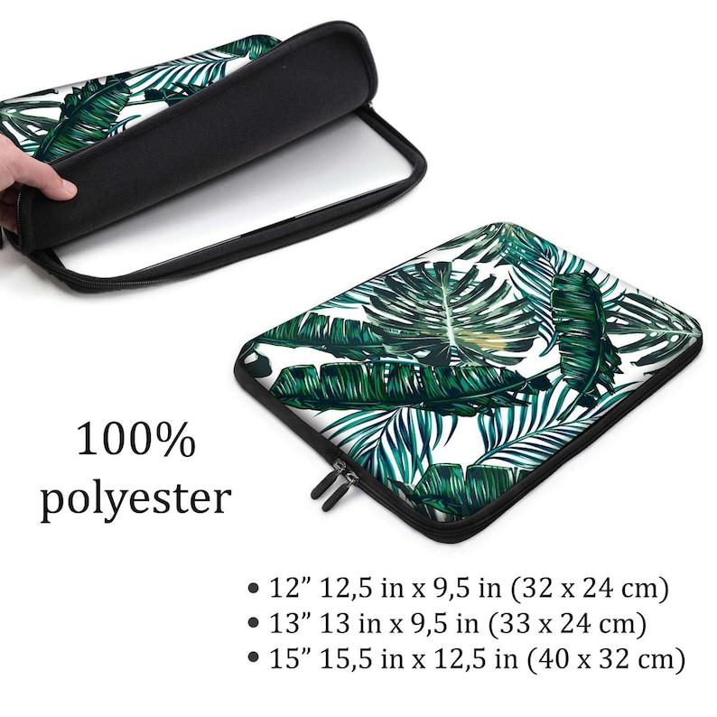 Leaves Laptop Sleeve Colorful Laptop Sleeve Floral Laptop Sleeve 12 inch Laptop Sleeve 13 inch Laptop Sleeve 15 inch Laptop Sleeve ZZ8694