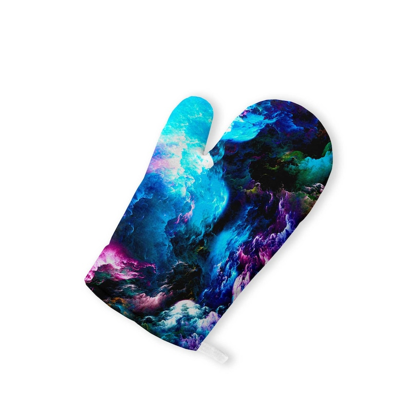 Space Kitchen Wall Art Pot Holders Mittens Space Waves Hot Pads Oven Gloves BBQ Colorful Cooking Glove Oven Mitt Set Halloween Gift ZZ8229