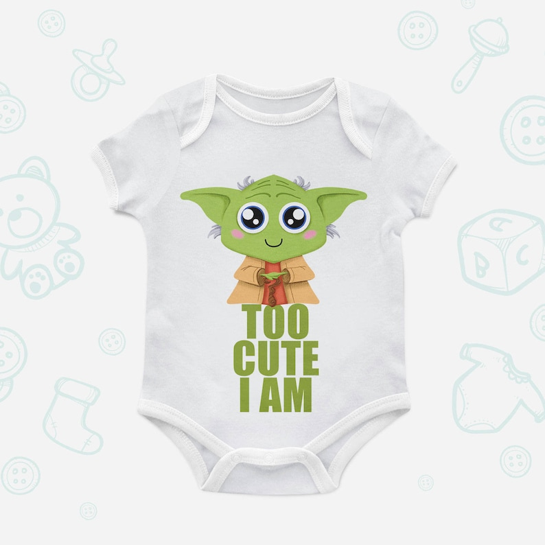 a163e6d54 Too Cute I Am New Baby Organic Bodysuit Firstborn Star Wars | Etsy