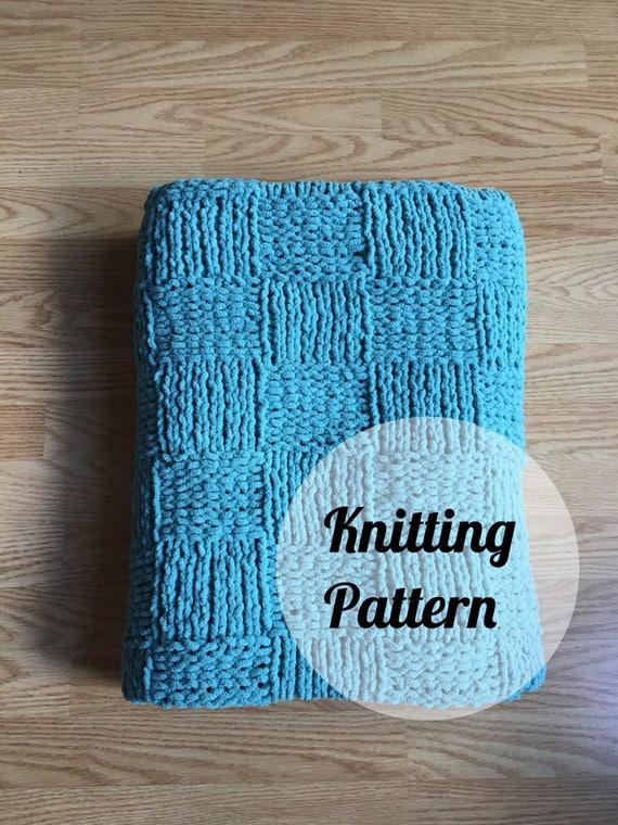 Knitting Pattern Checkerboard Baby Blanket Pattern Download