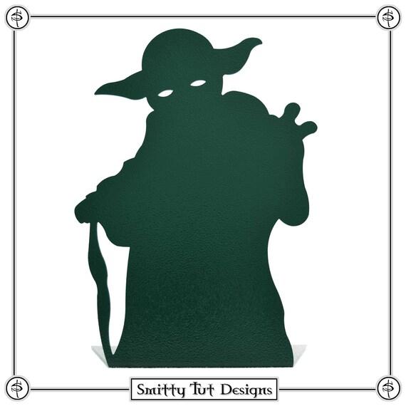 Yoda Inspiriert Statue Buchstutze Etsy