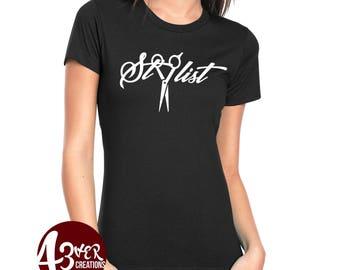 Stylist / Hair Stylist/ Hair/ Salon/ Beauty/ Tee shirts/ Shirts/ Ladies/ Women/ Presents/ gift idea