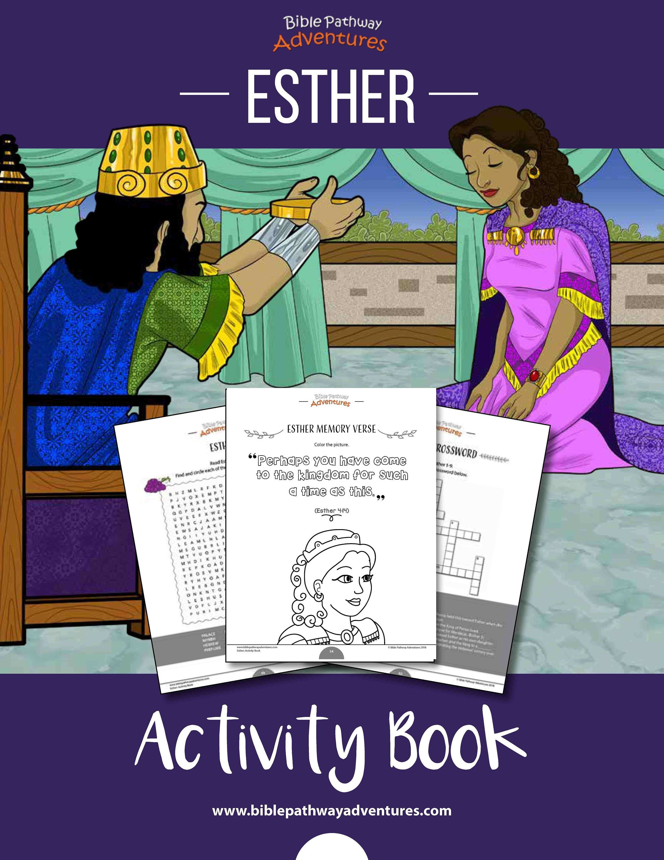Esther Activity Book and Lesson Plans | Printable Purim Activities